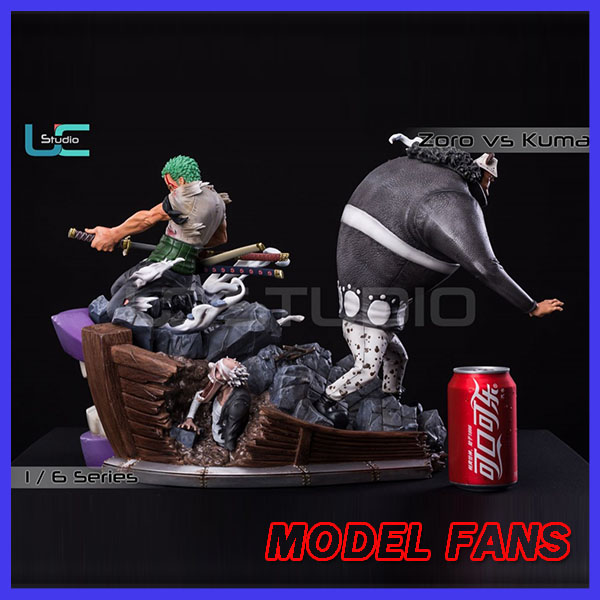 MODEL FANS IN-STOCK ucs One Piece Roronoa Zoro VS KUMA <font><b>gk</b></font> resin toy Figure for Collection image