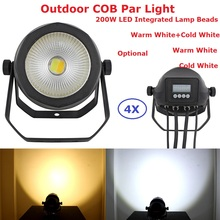 4Pack Carton Package 200W Warm White Or Cold White Optional COB Par Lights 90-240V For Theater TV Stage Studio Outdoor Use