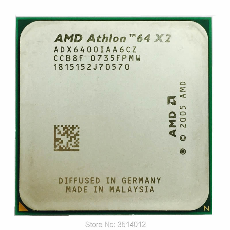 AMD Athlon 64 X2 6400 X2 6400 3 2 GHz Dual Core CPU Processor ADX6400IAA6CZ Socket
