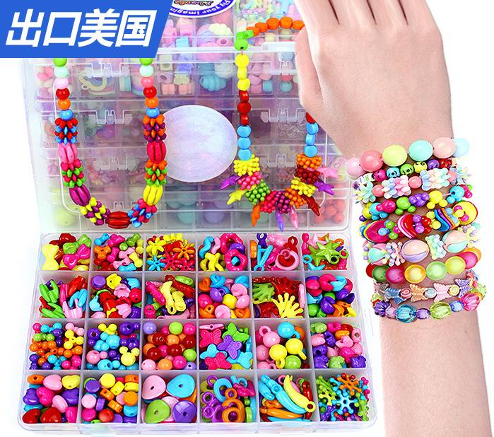 24 lattice DIY Beads for Children handmade font b toys b font Acrylic loom bands Beaded