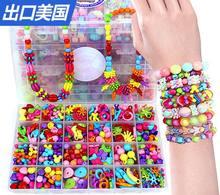 24 treillis BRICOLAGE Perles pour Enfants jouets faits à la main/Acrylique loom bandes Perlé assembler bloc jouets pour les filles, livraison gratuite
