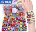 24 malha DIY Beads para Crianças handmade brinquedos/Acrílico tear bandas Frisado bloco de montar brinquedos para meninas, frete grátis
