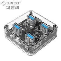 ORICO Transparent 4 Ports USB 3 0 HUB For Desktop Laptop With 30 100 CM Dada