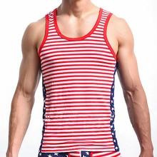 Men Hiphop Fashion Tank Tops American Flag Printed Vest Mens Undershirt  Men Bodybuilding Gym Sleeveless (only Tank Top) american flag open back tank top