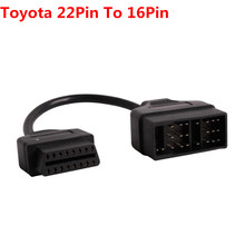 Toyota 22 Pin To 16 Pin Female OBD 2 obdii obd2 Cable Connector Adapter Cable Car Diagnostic Tool