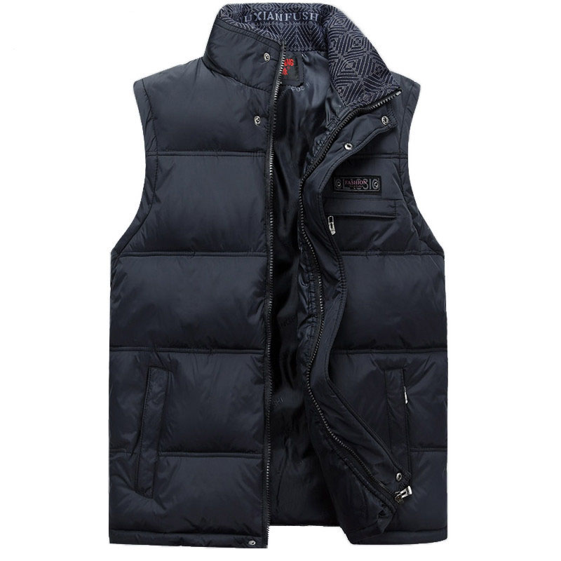 2017 Meeste varrukateta Vest Homme Winter Casual Coats Meeste puuvillast polsterdatud meeste soe särk Fotograaf Meest voodi pluss suurus 4XL