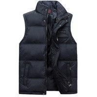 2016 Men S Sleeveless Vest Homme Winter Casual Coats Male Cotton Padded Men S Warm Vest