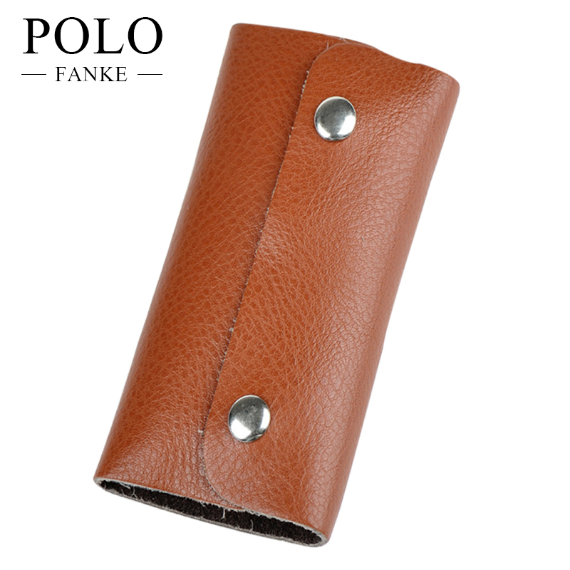 Men's Genuine Leather Car Key Wallets Men Key Holder Housekeeper Keys Organizer Key Ring Case Waist Hanging Purse FK170925Z