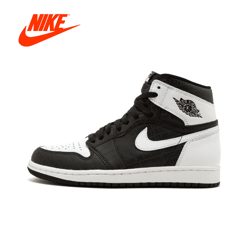 Official Original Nike Air Jordan 1 Retro High OG AJ1 Men's basketball shoes Outdoor sports 555088-008 баскетбольные кроссовки nike air jordan air jordan retro hi og laser aj1 705289 100