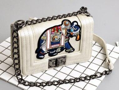 Detail Feedback Questions about Mini Small Women Purse Tote Elephant  Embroidery Rivet Ladies Messenger Bag Chain Shoulder Handbag Vintage Party  Crossbody ... c52d86476cfe