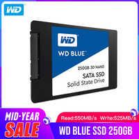 "Western Digital Blau SSD interne Solid State Disque 250GB 500GB 1TB 2 TB-SATA 6 Gbit /s 2,5 ""3D NAND WD S500G2B0A"