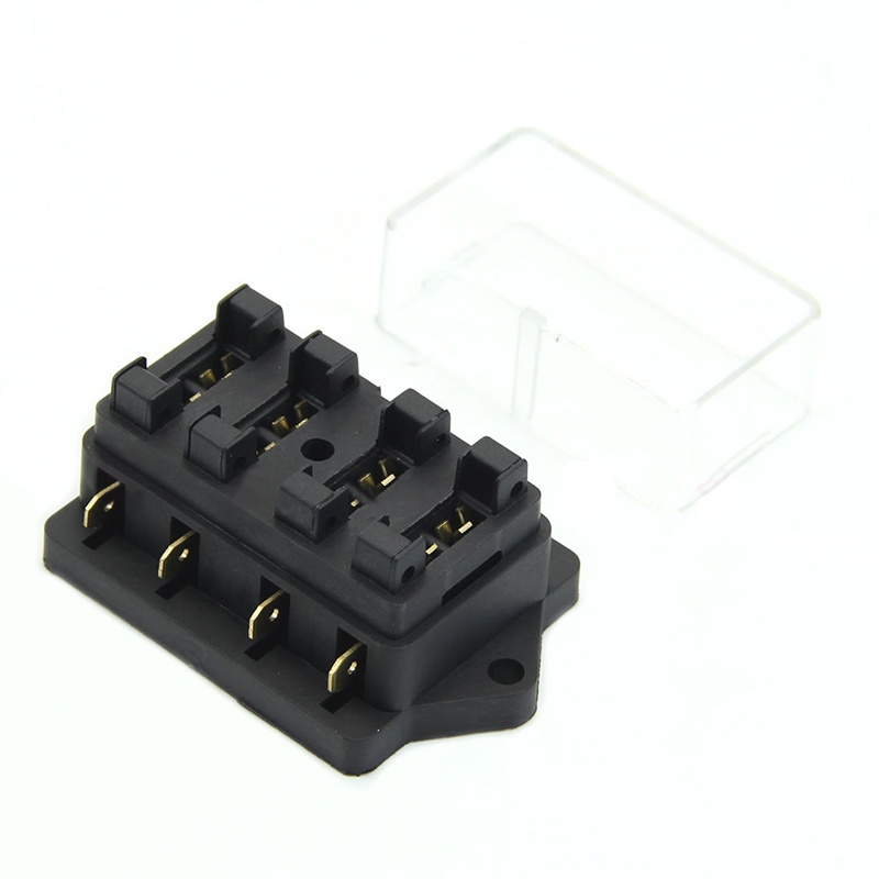 DHL 100PCS Car Accessory Waterproof Vehicle Truck Boat 4 Way Blade Fuse Box Holder 4X Fuse how to waterproof truck fuse box how wiring diagrams collection  at bayanpartner.co