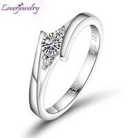 Fabulous 0 23 Carat G VS Round Natural Diamond Platinum PT900 Wedding Ring WU141