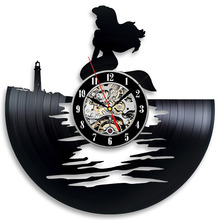 Hot Selling Vinyl Clock The Little  Theme 3D Record Vinyl Wall Clock  Hanging Watches Duvar Saat Horloge