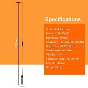 Image 3 - Antenne Mobile de bande de quadruple de Radio 144/220/350/440MHz pour lantenne mobile de KT 7900D de talkie walkie de voiture de QYT ANT 7900D