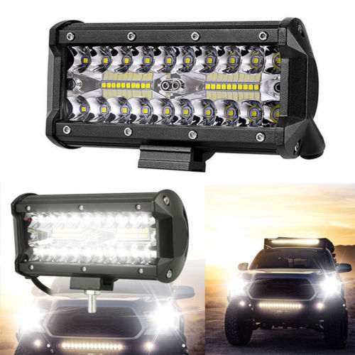 7 Inch 400W LED Work Light Bar Flood Spot Beam Offroad 4WD Driving Fog Lamp