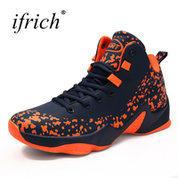 2019 Hot Sale Big Size Basketball Shoes Male Size 39 46 High Men Lace Up Stability Basketball Sneakers Men Red/Orange Trainers