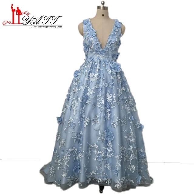 Vestiti Dresses Lunghi Fiori Prom Con Da 3d Pizzo Splendida Sera 0nPk8wO