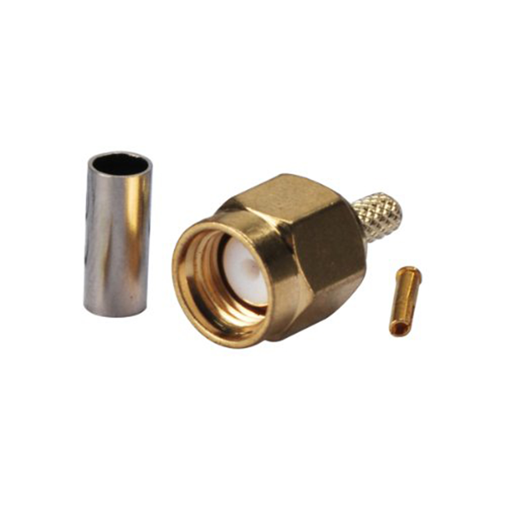 ALLiSHOP RP SMA Male Plug femal jack SMA jack RF Coaxial Connector Straight Goldplated SMA Connector Crimp for RG316 RG174 Cable dhl ems 2 lots 100pcs connector sma male plug crimp rg174 rg316 lmr100 cable straight d2