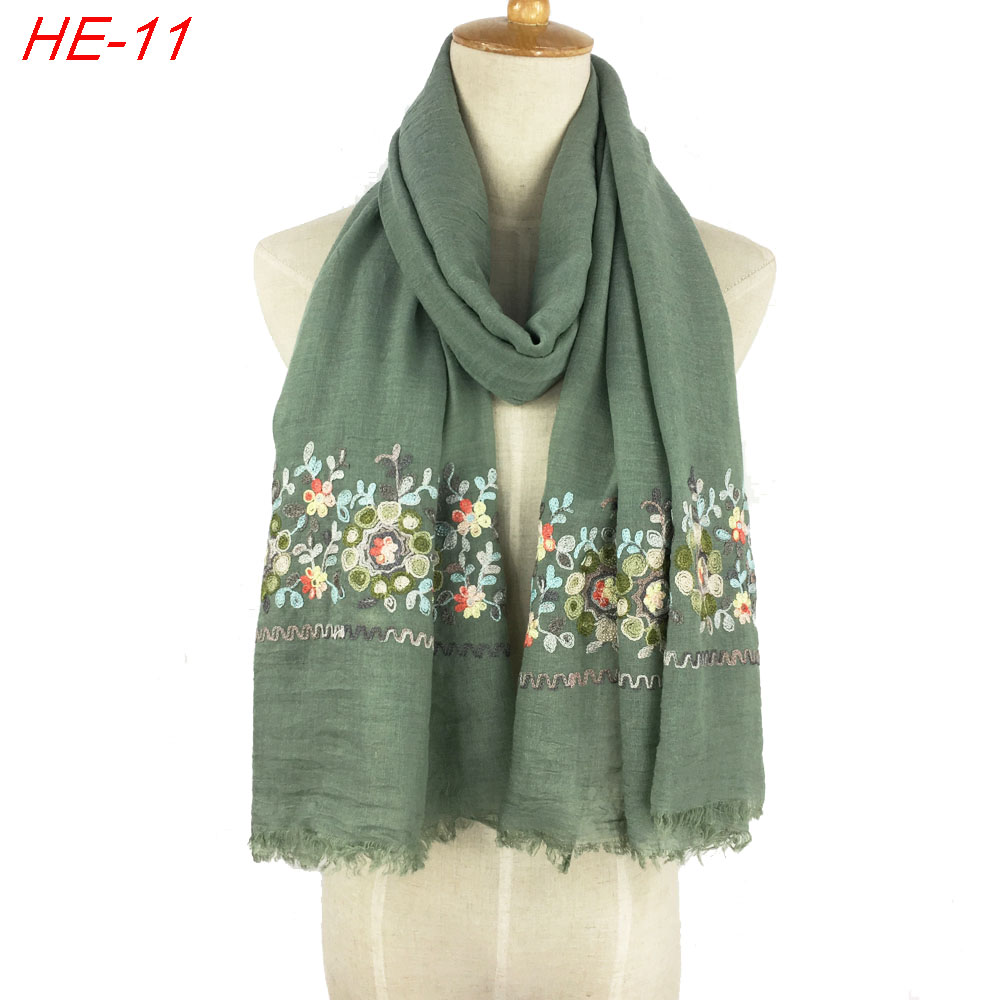New design hot selling ladies TR cotton paisley women scarf wrap shawl embroidered scarf for women and girl scarves