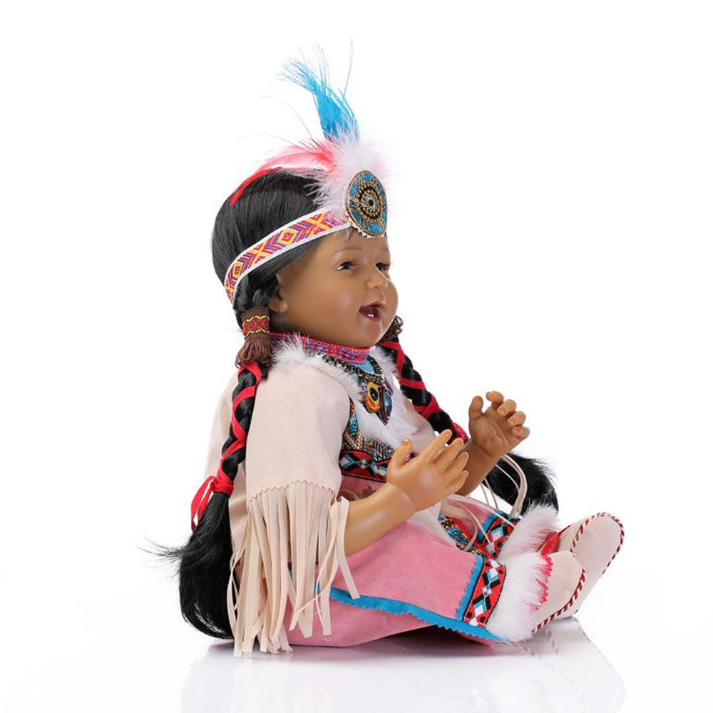 """Здесь продается  Novelty Native American Indian Reborn Baby Doll with Clothes,20"""" Lifelike Baby Silicone Reborn Dolls Toys for Children  Игрушки и Хобби"""