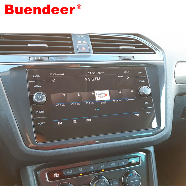 Buendeer 8 Inch For Volkswagen Tiguan Screen Protector Car GPS Navigation LCD Tempered Film For VW Tiguan Atlas Accessories 2018