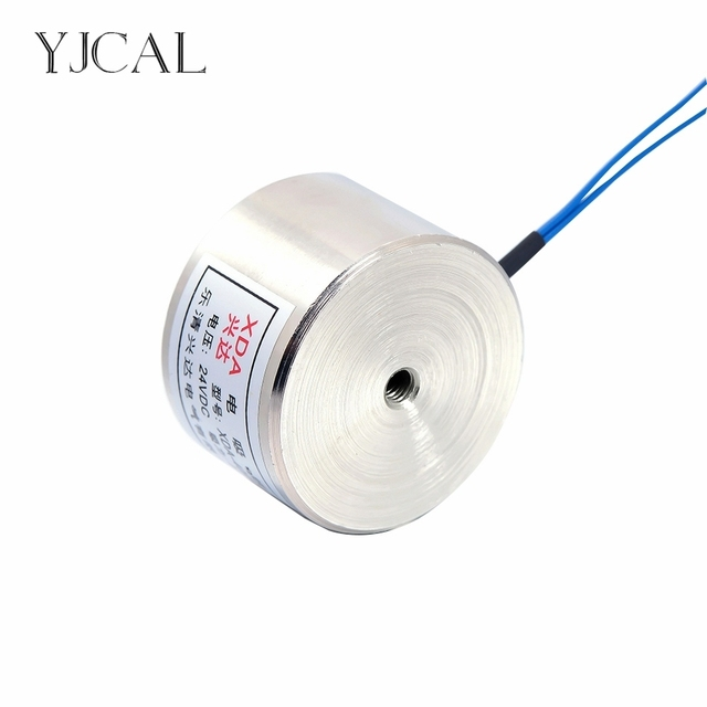 YJ-40/20 Holding Electric Sucker Electromagnet Magnet Dc 12V 24V Suction-cup Cylindrical Lifting 25KG Gallium Metal China
