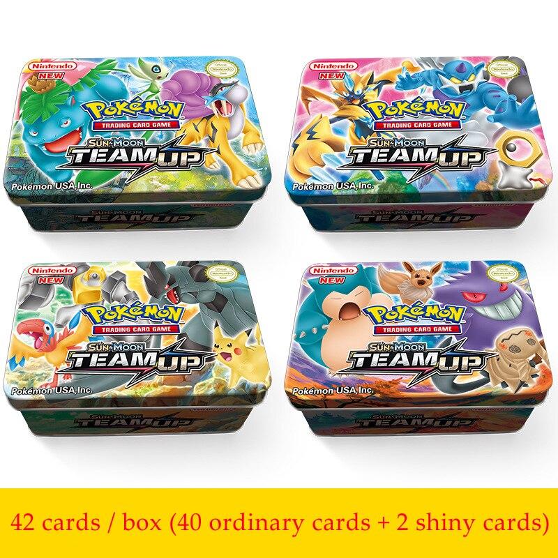 42 karten/box GX MEGA Pokemon Glänzende Karten Spiel Schlacht Carte Sammelkarten Spiel Kinder Pokemons Spielzeug