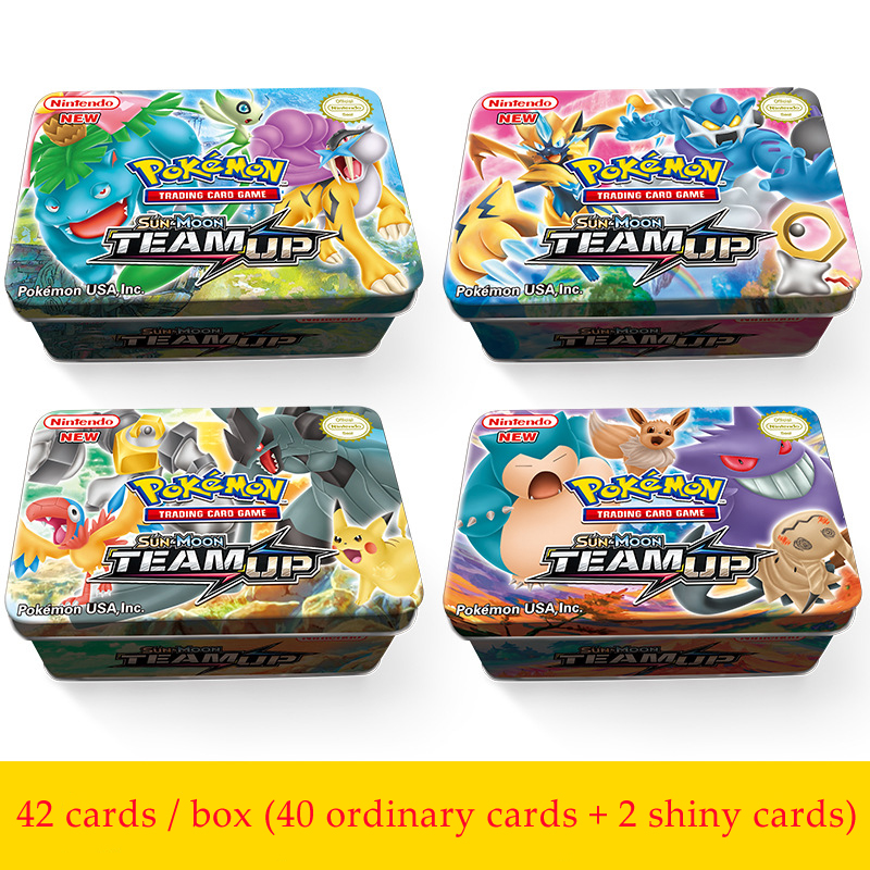 42cards/box GX MEGA Pokemon Shining Cards Game Battle Carte Trading Cards Game Children Pokemons Toy