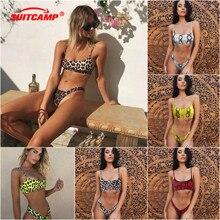 Sexy Leopard Print Bikini Women Swimsuit Swimming Suit for Micro