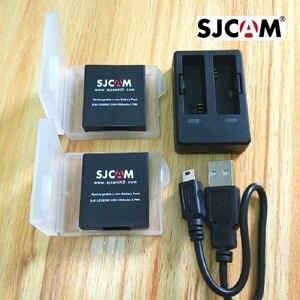 Image 1 - Аксессуары для SJCAM, оригинальный аккумулятор SJ6, перезаряжаемый аккумулятор, двойное зарядное устройство, чехол для батареи для SJCAM SJ6 Legend, Спортивная Экшн камера