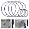 6PCS New Silver ABS Chrome Audio Speaker Stereo Decorative Ring Cover Loop for Ford Kuga Escape 2013 2014