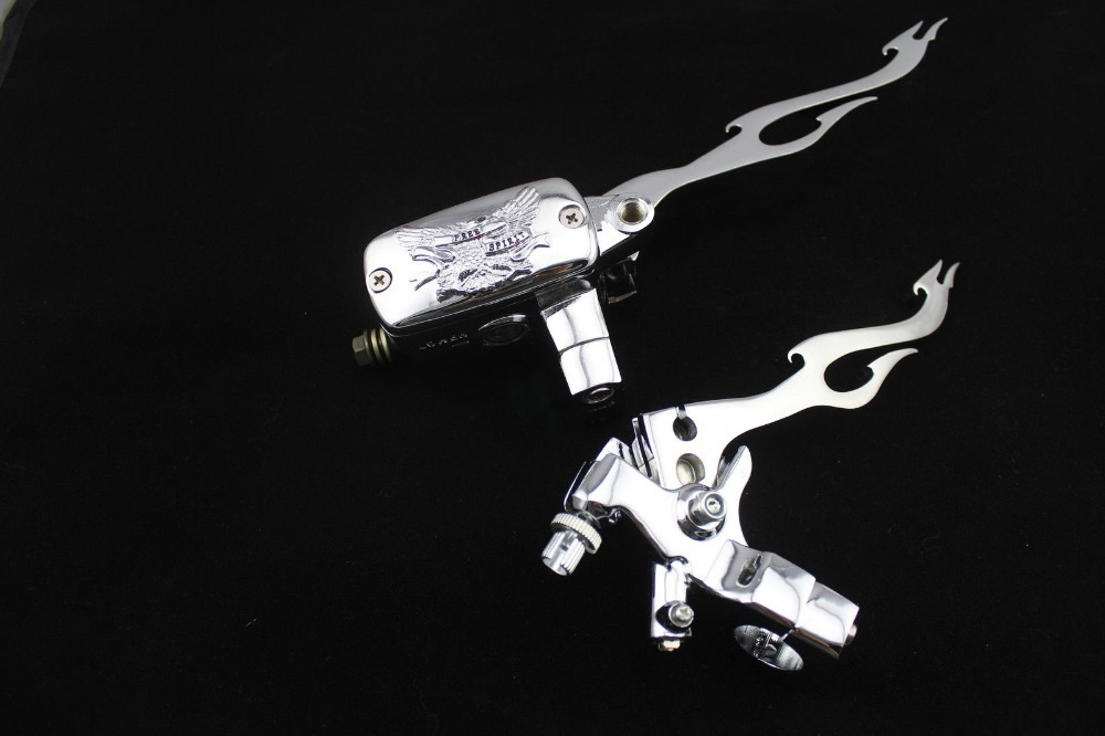 1 14mm Bore Control Reservoir Brake Clutch Levers For Motorcycle Chopper Cruiser Touring Harley Suzuki yanaha honda kawasaki dwcx motorcycle adjustable chain tensioner bolt on roller motocross for harley honda dirt street bike atv banshee suzuki chopper