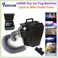 1x Wedding Club Party 3500 W Dry Ice Fog Machine Super Zware Droog Ijs Laaggelegen Fog/Rook Podium speciale Effect Machine Met Case(China)