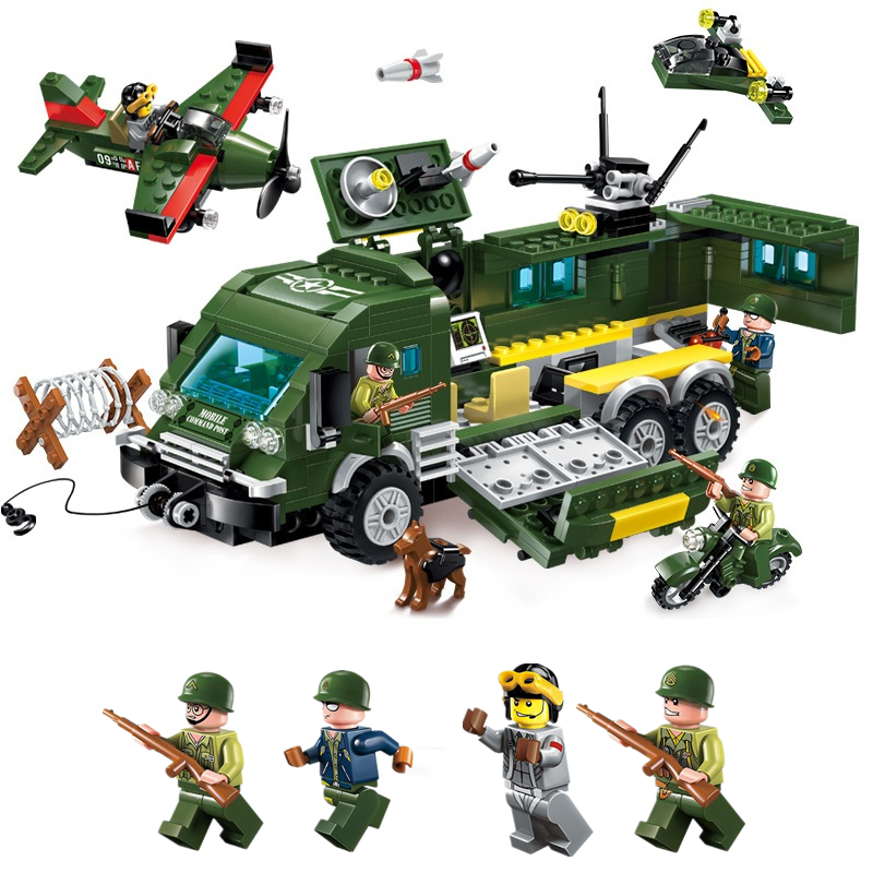 ENLIGHTEN City Military War Attack Armored Vehicles Fighter Car Building Blocks Sets Bricks Model Kids Toys Compatible Legoings матрас roll matratze feder 500 l l 140x200