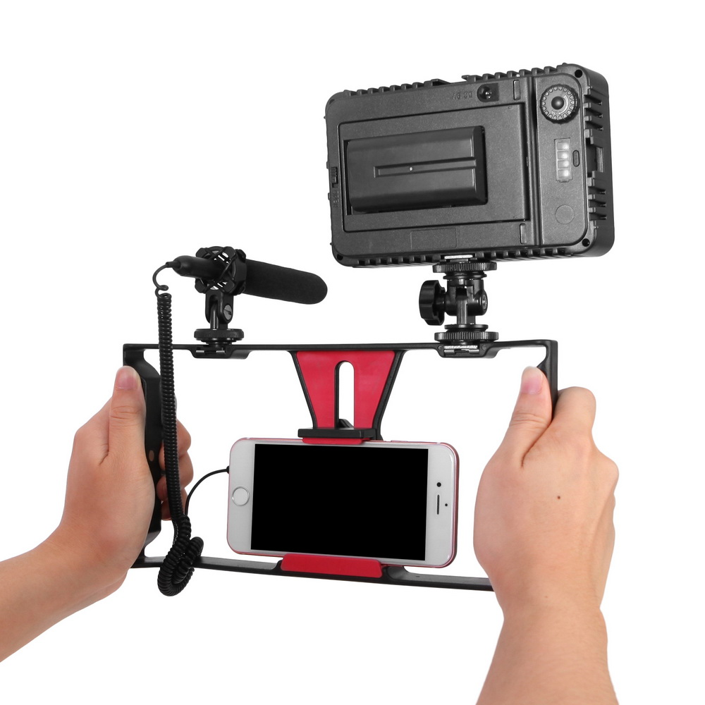 Meking Phone Stabilizer Handheld Smartphone Video Film Making Stabilizer Case Cradle For iPhone Sumsung
