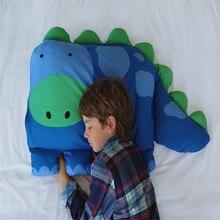 Хлопковая льняная квадратная наволочка, Детская наволочка с животным, для мальчиков, Дилана, динозавр, подушка для питомца, Шам для детей