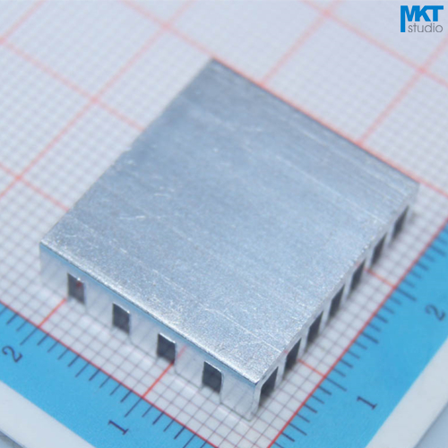 100Pcs 22.5mmx6mmx20mm Pure Aluminum Cooling Fin Radiator Heat Sink