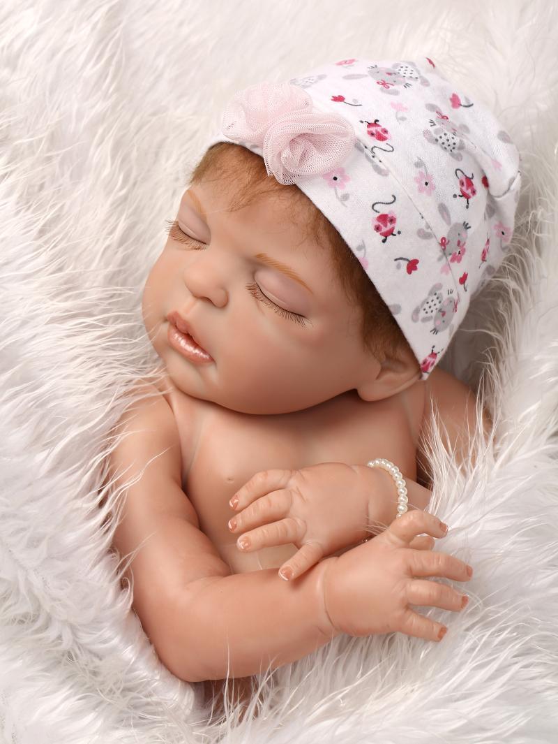 23inch 58CM Durable Full Silicone Reborn Baby Doll Sleeping Newborn Bebe Girl Alive Doll Bath Nursing