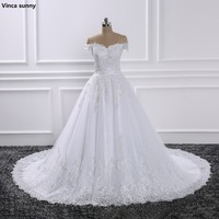 2017 Luxury Lace Ball Gown Sleeve Wedding Dresses Sweetheart Sheer Back Princess Illusion Applique Bridal Gowns