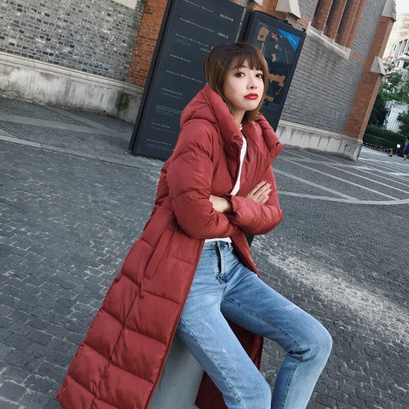 ELEXS M-6XL winter coat thickened   parka   women extra long coat down cotton ladies down   parka   down jacket women E8801