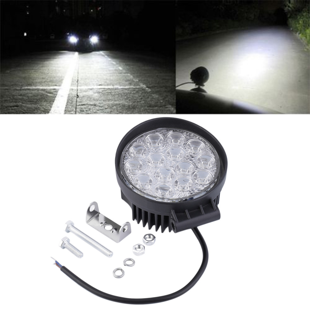 Waterproof Shockproof 42W Off Day Light Round LED Work Light LED Lamp For Car Truck Vehicles Auto Boat