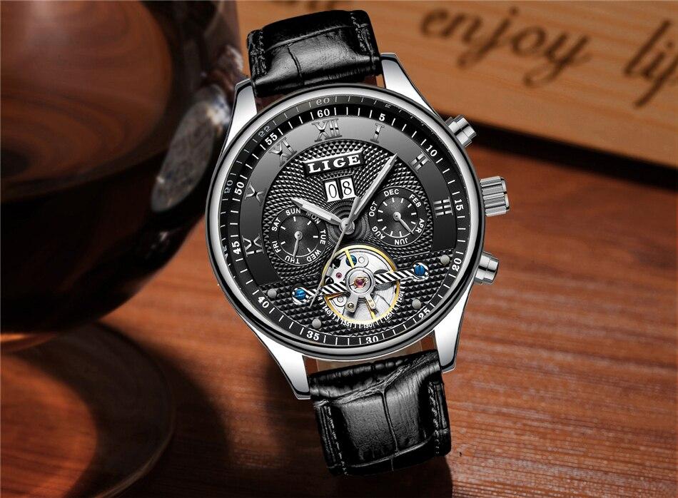 moda esportes relógios mecânicos automáticos relógio de