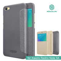 For Xiaomi redmi note 5A case flip cover Nillkin sparkle PU leather case for Xiaomi redmi note 5A with view windows