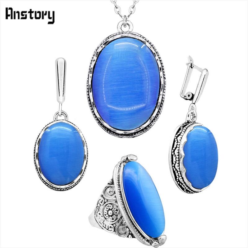 necklace set-Blue