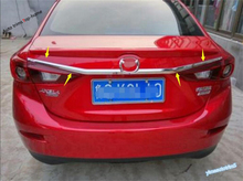 Yimaautotrims For Mazda 3 AXELA Sedan 2014 2015 2016 ABS Exterior Front Grille Grill Engine + Rear Trunk Lid Cover Tailgate Trim