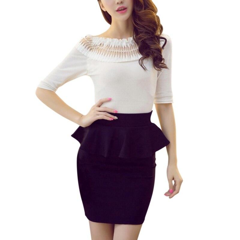 New Arrival Hot Sale Summer Women Formal Skinny Solid Color Pencil Skirt Female Fashion Slim Business Wear