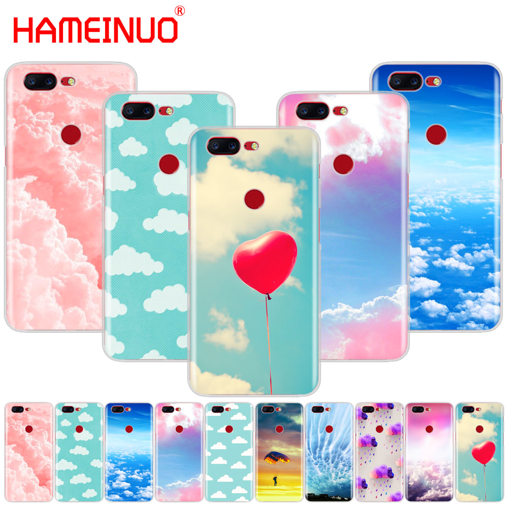 HAMEINUO clouds on blue sky cover phone case for Oneplus one plus 6 5T 5 3 3t 2 X A3000 A5000