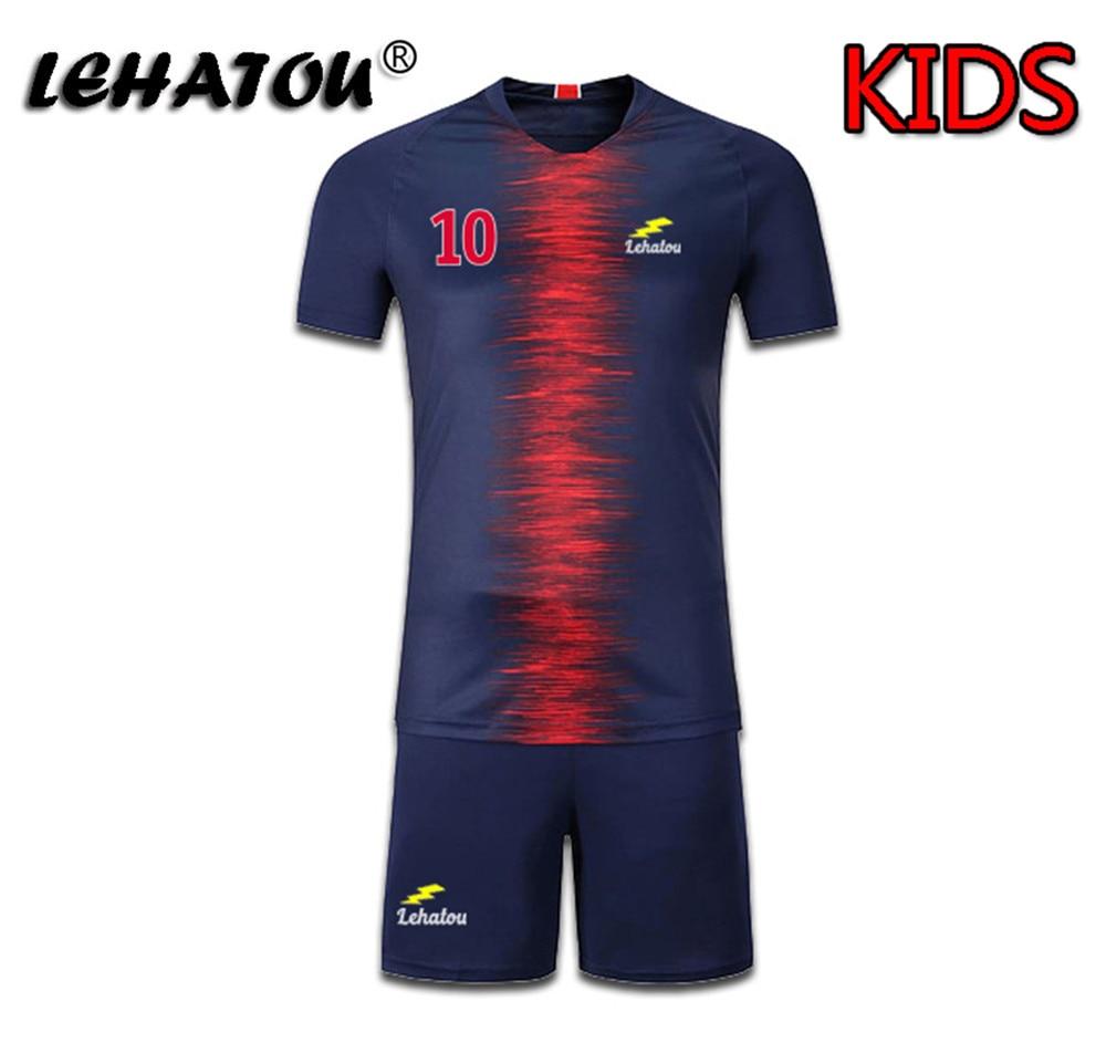 wholesale dealer 6a0ef 6b624 US $6.56 5% OFF Boy Soccer Jersey Paris Football Sets Child Soccer Shirt  Top Quality Neymar Jr Cavani Suits Mbappe Training Jersey Man Psg Kits-in  ...