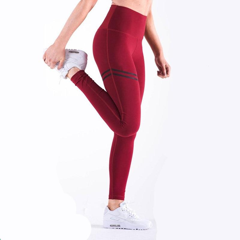 Ilusad punased naiste spordipüksid L